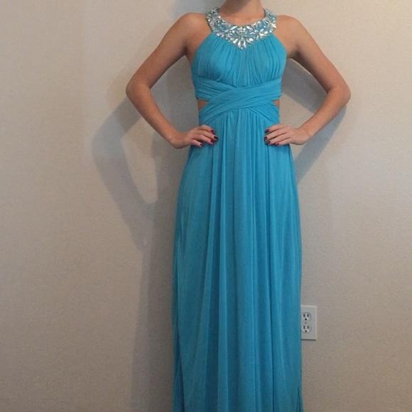 B Darlin Dresses | Teal Blue Prom Dress | Poshmark